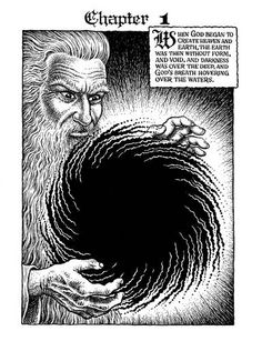 The Book of Genesis Illustrated by R. Crumb. Chapter 1. R. Crumb (American, b. 1943)