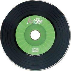 CD-r virgem vinil verde