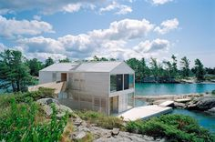 MOS Architects designed the Floating House on Lake Huron in Ontario, Canada.