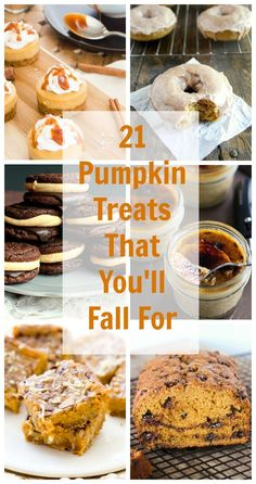 Community Post: 21 Pumpkin Treats That You'll Fall For - everything on this list sounds amazing!