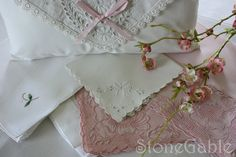 How to wash vintage linens.  Good tutorial, I don't use the laundry detergent on mine however.  I use my own homemade washing soap.  I've found it's much more gentle.