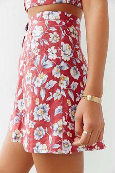 Ecote Tropical Linen Mini Skirt