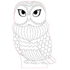 Wise owl 3d illusion lamp vector file for CNC - 3bee-studio