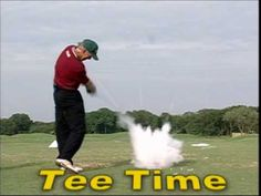 Golf pro Tom Ward is up to his tricks again as he shows the audience some fun shots.