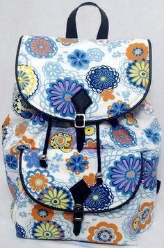 Moda Feminina, Mochila Floral, para o dia a dia, escola, universidades, faculdades, passeio, viagens e muito mais...