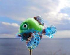 Gertrude.... lampwork fish bead... sra by DeniseAnnette on Etsy, $14.00