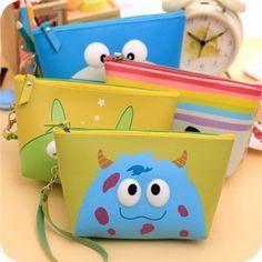Korea cute cartoon waterproof large capacity cosmetic bag miss qian Bao clutch wash storage bag makeup bag Box trumpet