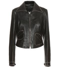 mytheresa.com - Embellished leather jacket - Luxury Fashion for Women / Designer clothing, shoes, bags