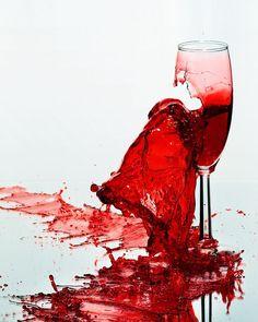 Red // Drink // Glass // Broken