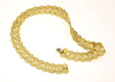 Diamond Gold Necklace   From a unique collection of vintage link necklaces at https://www.1stdibs.com/jewelry/necklaces/link-necklaces/