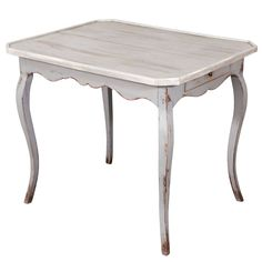 19th Century French Grey Painted Table www.jeffersonwest.com
