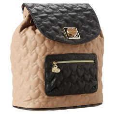 Betsey Johnson Will You Be Mine Backpack-Tan - Fashion