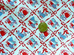 Vintage Cotton Feed sack Quilting Fabric   NOVELTY Man by anne8865, $50.00