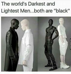 Papis Loveday and Shaun Ross (albino) - The lightest and darkest skin color. Photos by Rebecca Litchfield. Shaun Ross, Black Power, My Black Is Beautiful, Beautiful People, Beautiful Men, Memes Arte, All Meme, Style Ethnique, Looks Black