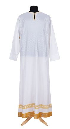 Coshibo priest sticharion, $120.00, catalog of St Elisabeth Convent. #catalogofgooddeed #priest #sticharion #coshibo #galoon #white #sewing