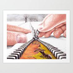 Winter is Coming by Lars Furtwaengler | Colored Pencil | 2016 Art Print