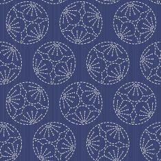 Sashiko motif. Plum Blossoms. Seamless pattern. vector art illustration