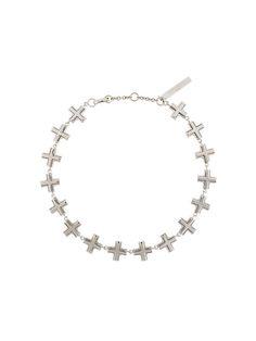 GIVENCHY Multi Cross Choker Necklace. #givenchy #necklace