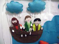 A criação do mundo em 7 dias em flanelógrafo                   A  arca de noé em flanelógrafo                  A história de jonas em aven...