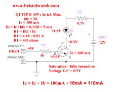 Basic circuit design for bipolar transistor switches examples. Dc Circuit, Circuit Design, Bathroom Towels, Electronics Projects, Bipolar, Arduino, Knowledge, Technology, Amp