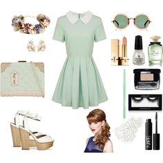 """greenlolita"" by swankybatz on Polyvore"