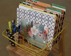 Dish Drainer turns into file organizer. 35 Ways to Use Common Kitchen Storage Solutions All Around the House