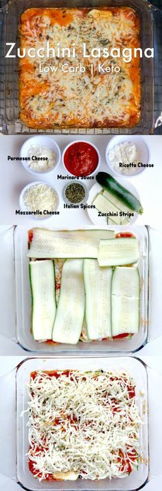 Keto Vegetarian Lasagna with Zucchini Noodles - Linneyville. # Food and Drink vegetarian zucchini noodles Lunch Recipes, Diet Recipes, Vegan Recipes, Cooking Recipes, Diet Meals, Cooking Png, Tapas Recipes, Girl Cooking, Crab Recipes