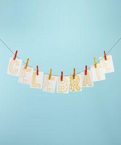 Celebrate DIY Letterpress Banner Kit