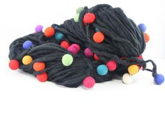 Thick and Thin Wool Felt Ball Yarn