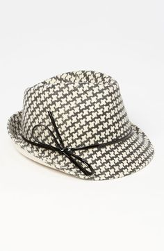 Halogen Houndstooth Fedora - I'll be rockin' this January 7. I love the patent detail.