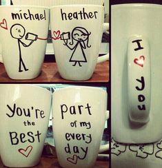 Click Pic for 40 DIY Valentine Gift Ideas for Boyfriend & Husbands - DIY Mugs