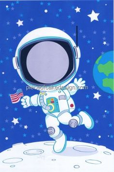 14 Sheet  Astronaut Photo Frame Birthday  Edible Image CakeCupcake Topper -- See this great product.