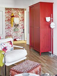 Decoração em tempos de crise: uma casa móveis coloridos