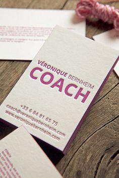Carte De Visite Recto Verso Pantone 248U Sur Papier 100 Coton Letterpress Business Cards