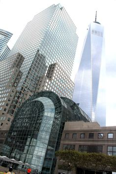 World Financial Center with One World Trade Center behind