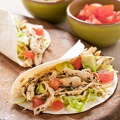 Shredded chicken tacos- I make these all the time! From cook's country