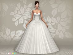 Wedding dress - Cindy for The Sims 4 by BEO Sims 1, The Sims 2, Sims Four, Sims 4 Wedding Dress, Long Wedding Dresses, Sims 4 Mods Clothes, Sims 4 Clothing, Butterfly Wedding Dress, The Sims 4 Cabelos
