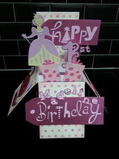 Little girls 1st birthday card