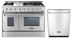 The Freestanding Dual Fuel Range from Thor Kitchen is equipped with 4 powerful burners housed behind cast-iron cooking grates. Its dual oven electric heating system utilizes heat from the top and bottom to create even heating. Thor, Ranger, Dual Oven, Double Ovens, Range Cooker, Electric Oven, Oven Range, Furla, Kitchen And Bath