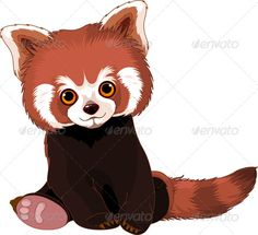 Red Panda by Dazdraperma Cute sitting red panda. EPS 8, JPG (high resolution)