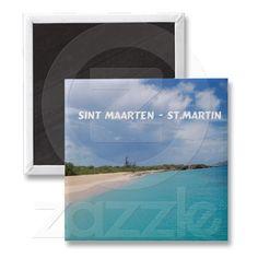 Sint Maarten - St. Martin Beach scene magnets  - Thank you Theresa!