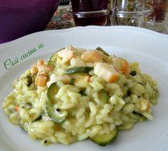 risotto di zucchine e scamorza – Rezepte Risotto Recipes, Rice Recipes, Pasta Recipes, Cooking Recipes, Italy Food, Rice Dishes, Polenta, Gnocchi, Couscous