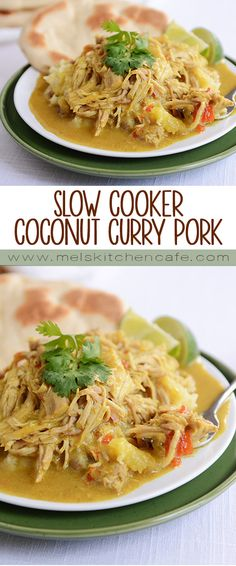 This coconut curry pork is a great way to bring bold flavors to the slow cooker!