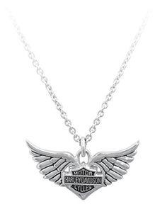Harley-Davidson® MOD® Women's Winged Heart Necklace HDN0213 Harley-Davidson http://www.amazon.com/dp/B00CYQ3JNS/ref=cm_sw_r_pi_dp_dN38tb02ZCEPC