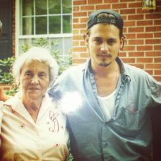 Johnny Depp and his great gran :)