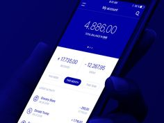 Your bank account designed by Bertil Boisen. the global community for designers and creative professionals. Ui Design Mobile, Ios Design, Dashboard Design, Flat Design, Financial Dashboard, User Experience Design, Customer Experience, Modern Web Design, Application Design