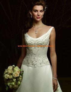 2013 Elegante Brautkleider A-Linie mit Applikation aus Satin online