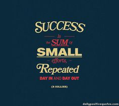 small effort every day = p90x3, big success = results, must bring it!