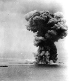 On April 7, 1945, the Yamato (largest battleship ever constructed) is sunk by U.S. planes. WW2