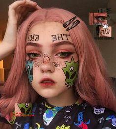 Makeup Inspo, Makeup Art, Makeup Inspiration, Beauty Makeup, Hair Makeup, Clown Makeup, Cute Makeup, Halloween Face Makeup, Grunge Style